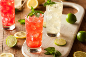 Organic Fresh Italian Soda with Green Mint