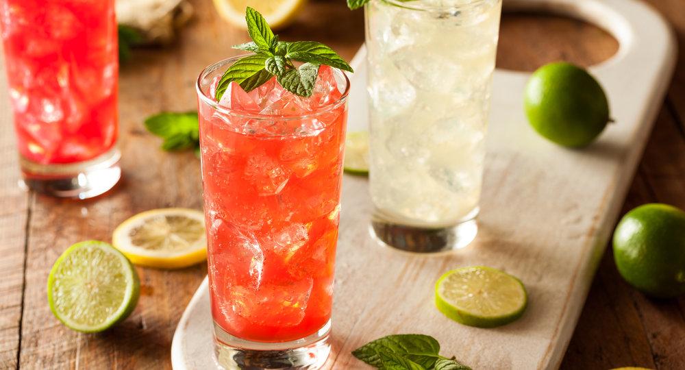 Organic Fresh Italian Soda with Green Mint